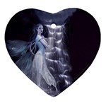 Dark Faery and Night Waterfall Ornament (Heart)