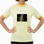 Dark Faery and Night Waterfall Women s Fitted Ringer T-Shirt