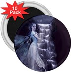 Dark Faery and Night Waterfall 3  Magnet (10 pack)