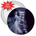 Dark Faery and Night Waterfall 3  Button (100 pack)