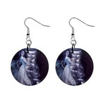 Dark Faery and Night Waterfall 1  Button Earrings