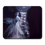Dark Faery and Night Waterfall Large Mousepad