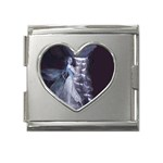 Dark Faery and Night Waterfall Mega Link Heart Italian Charm (18mm)