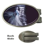 Dark Faery and Night Waterfall Money Clip (Oval)