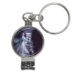 Dark Faery and Night Waterfall Nail Clippers Key Chain
