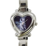 Dark Faery and Night Waterfall Heart Italian Charm Watch