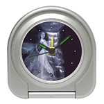 Dark Faery and Night Waterfall Travel Alarm Clock