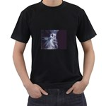 Dark Faery and Night Waterfall Black T-Shirt