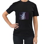 Dark Faery and Night Waterfall Women s Black T-Shirt