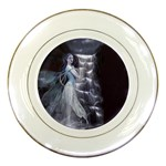 Dark Faery and Night Waterfall Porcelain Plate