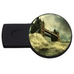 Dark Gothic Apocalypse of Doom USB Flash Drive Round (1 GB)