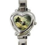 Dark Gothic Apocalypse of Doom Heart Italian Charm Watch