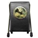 Dark Gothic Apocalypse of Doom Pen Holder Desk Clock