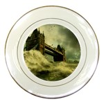 Dark Gothic Apocalypse of Doom Porcelain Plate