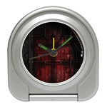 Dark Gothic Gate to the Other Side Travel Alarm Clock