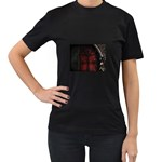 Dark Gothic Gate to the Other Side Women s Black T-Shirt