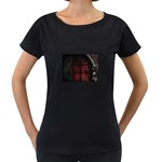 Dark Gothic Gate to the Other Side Maternity Black T-Shirt