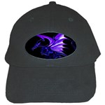 Dark Purple Dragon Fantasy Black Cap