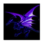 Dark Purple Dragon Fantasy Tile Coaster