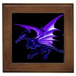 Dark Purple Dragon Fantasy Framed Tile