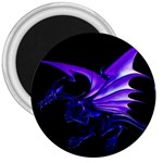 Dark Purple Dragon Fantasy 3  Magnet