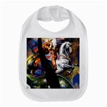 Dragon and Gothic Mistress on Unicorn Bib