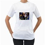 Dragon and Gothic Mistress on Unicorn Women s T-Shirt