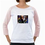 Dragon and Gothic Mistress on Unicorn Girly Raglan