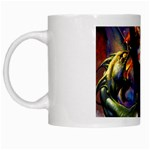 Dragon and Gothic Mistress on Unicorn White Mug