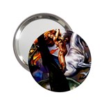 Dragon and Gothic Mistress on Unicorn 2.25  Handbag Mirror