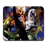 Dragon and Gothic Mistress on Unicorn Large Mousepad