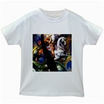 Dragon and Gothic Mistress on Unicorn Kids White T-Shirt