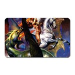 Dragon and Gothic Mistress on Unicorn Magnet (Rectangular)