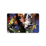 Dragon and Gothic Mistress on Unicorn Magnet (Name Card)