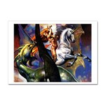 Dragon and Gothic Mistress on Unicorn Sticker A4 (10 pack)