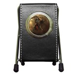 Goth Dracula Vampire and Rising Dead Pen Holder Desk Clock