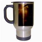 Goth Dracula Vampire and Rising Dead Travel Mug (Silver Gray)