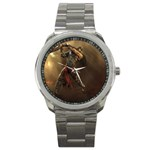 Goth Dracula Vampire and Rising Dead Sport Metal Watch