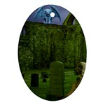 Gothic Fantasy Graveyard Ornament (Oval)