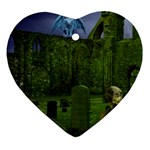 Gothic Fantasy Graveyard Ornament (Heart)