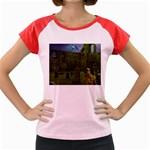 Gothic Fantasy Graveyard Women s Cap Sleeve T-Shirt