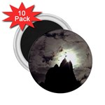Gothic Mountain Setting Sun 2.25  Magnet (10 pack)