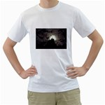 Gothic Mountain Setting Sun White T-Shirt