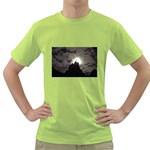Gothic Mountain Setting Sun Green T-Shirt