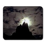 Gothic Mountain Setting Sun Large Mousepad