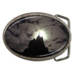 Gothic Mountain Setting Sun Belt Buckle