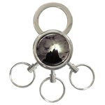 Gothic Mountain Setting Sun 3-Ring Key Chain