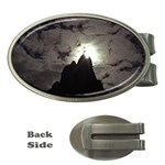Gothic Mountain Setting Sun Money Clip (Oval)