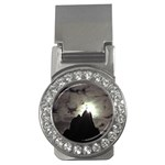 Gothic Mountain Setting Sun Money Clip (CZ)