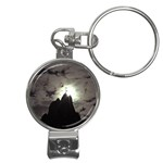 Gothic Mountain Setting Sun Nail Clippers Key Chain